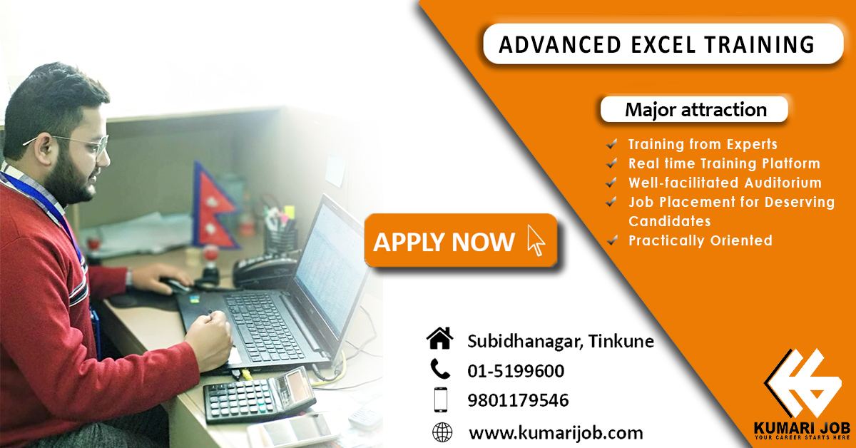 kumarijob excel training